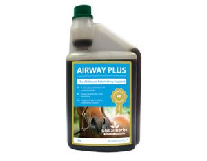Bottle of Global Herbs Airway Plus Liquid