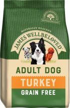 Bag of James Wellbeloved Grain Free Turkey