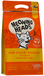 Bag of Meowing Heads Paw Lickin' Chicken