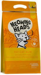 Bag  of Meowing Heads Fat Cat Slim
