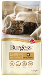 Bag of Burgess Cat Chicken & Duck